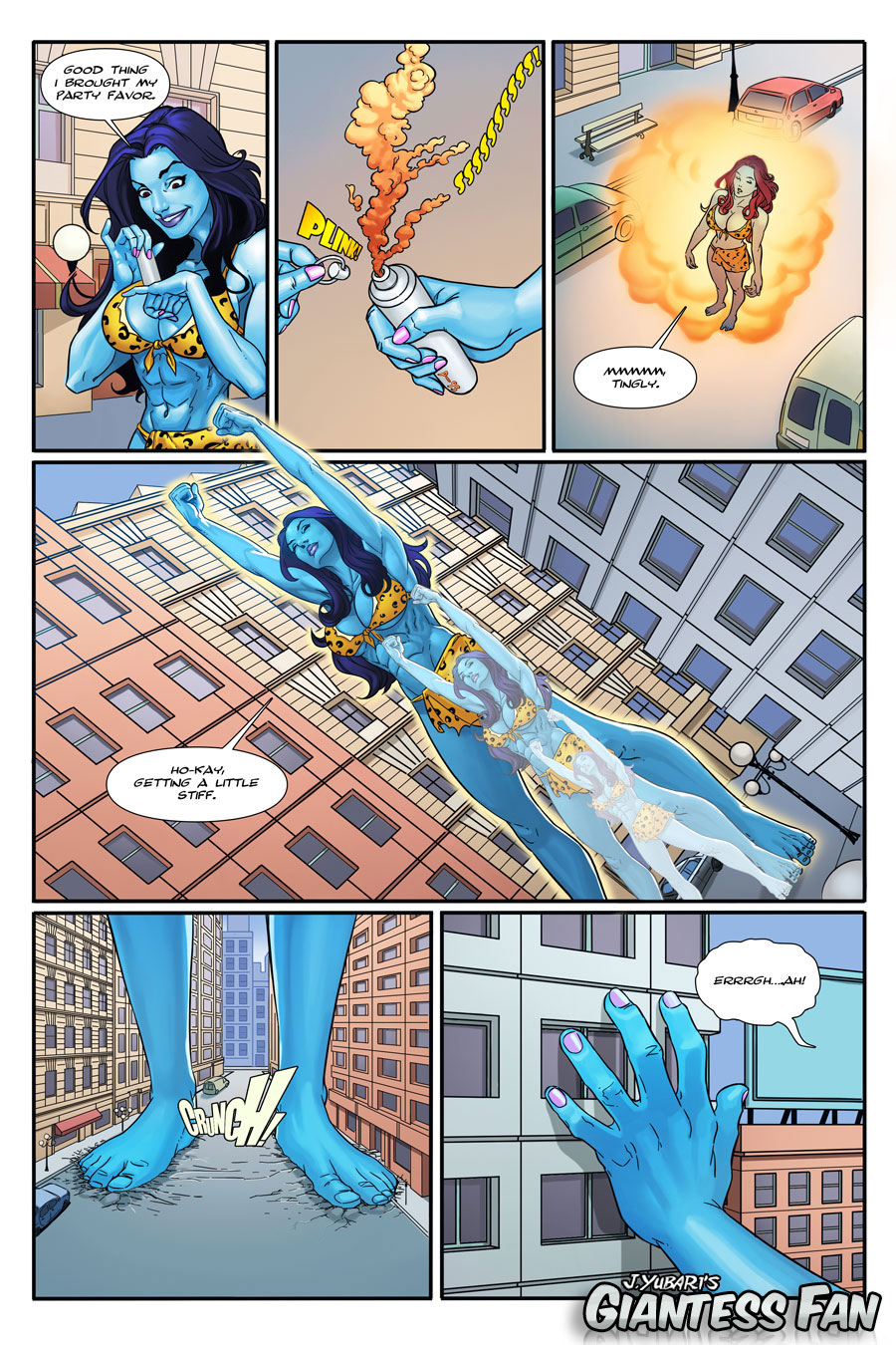 giantess comic Jolly Blue Giantess